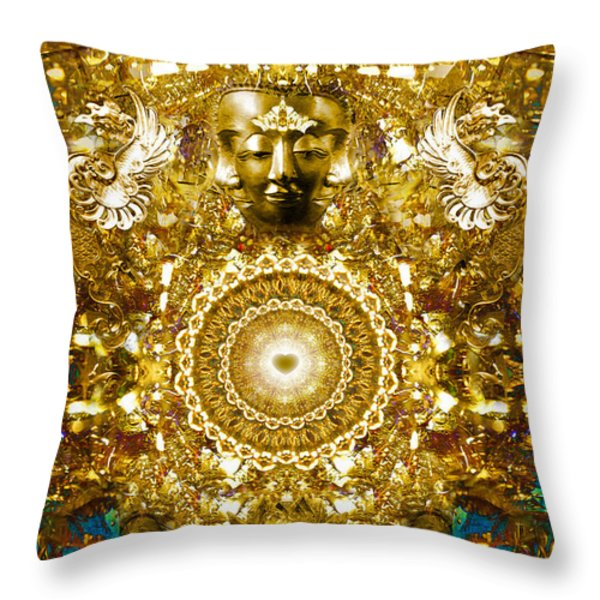 Alchemy of the Heart Throw Pillow by Jalai Lama