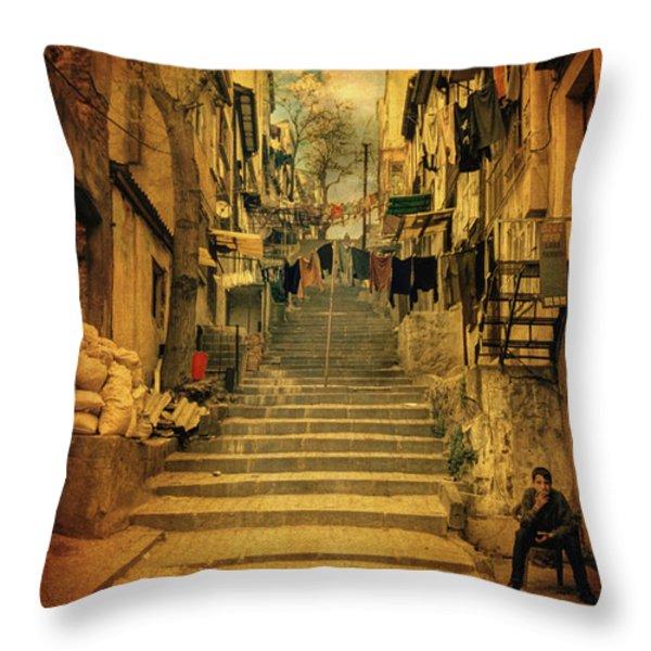 Alem-i Misal Throw Pillow by Taylan Soyturk