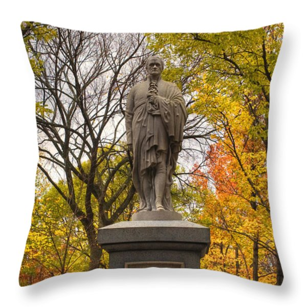 Alexander Hamilton Statue Throw Pillow by Joann Vitali