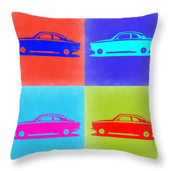 Alfa Romeo Gtv Pop Art 2 Throw Pillow by Naxart Studio
