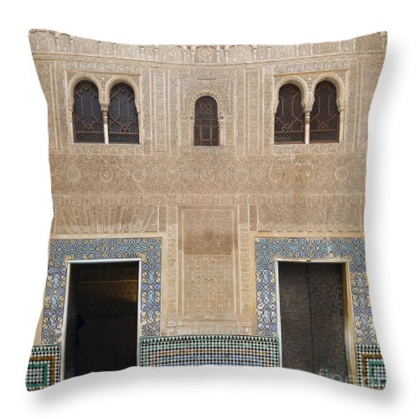 Alhambra Court Granada Throw Pillow by Rudi Prott