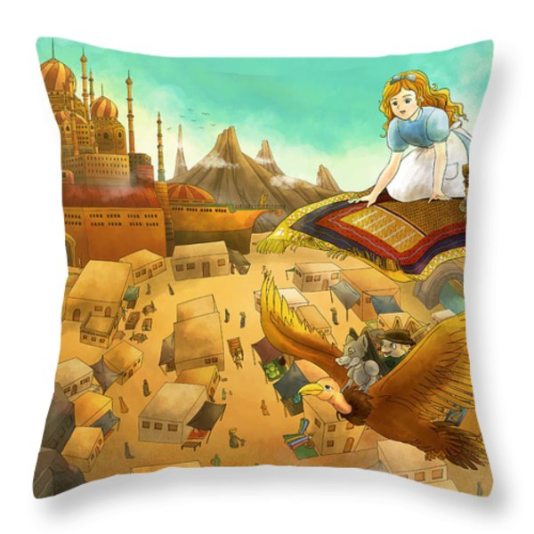 Ali Baba Cover Art Throw Pillow by Reynold Jay