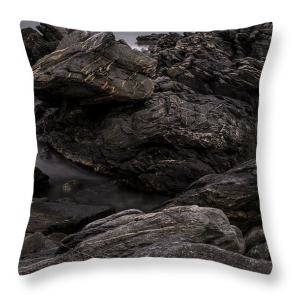 Alien Landscape Throw Pillow by Andrew Pacheco
