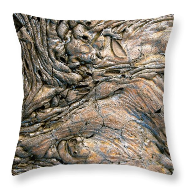 Alien Landscape Throw Pillow by Corinne Rhode