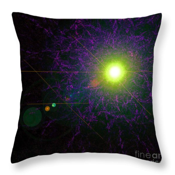 Alignment Throw Pillow by First Star Art