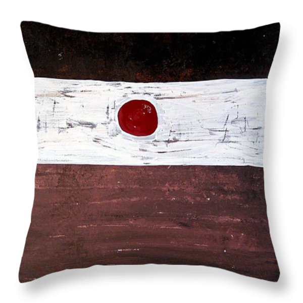 Alignment Original Painting Throw Pillow by Sol Luckman