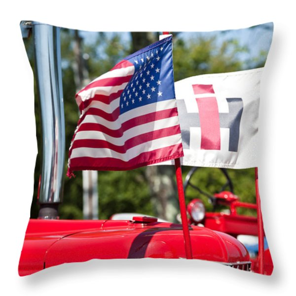 All American Throw Pillow by Bill  Wakeley