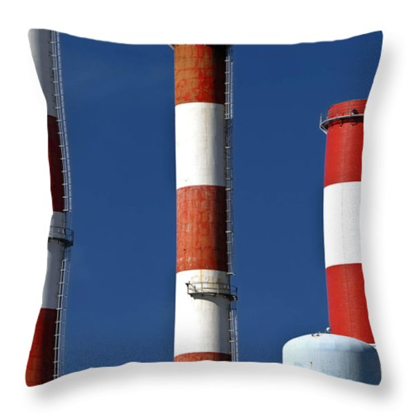 All American Industry Throw Pillow by Amy Cicconi