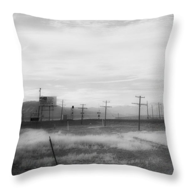All American Landscape Throw Pillow by Hugh Smith
