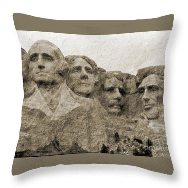 All American Throw Pillow by Nena Trapp