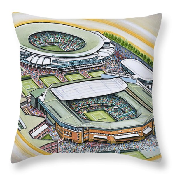 All England Lawn Tennis Club Throw Pillow by D J Rogers