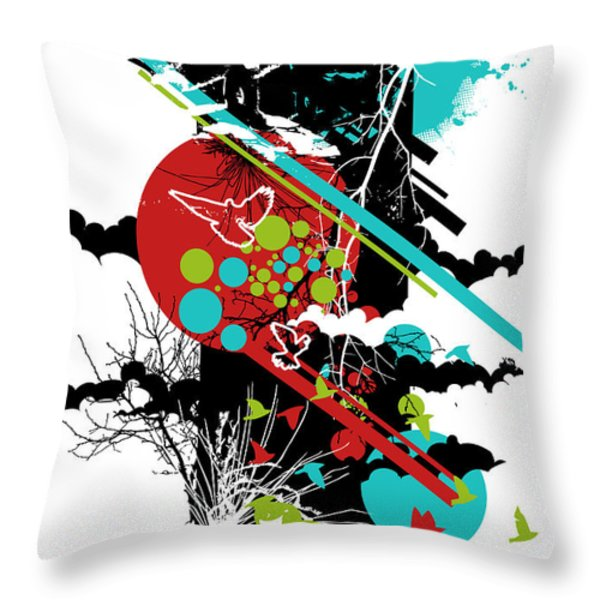 All Is Vanity Throw Pillow by Budi Satria Kwan