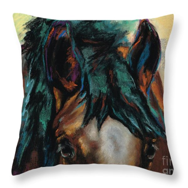 All Knowing Throw Pillow by Frances Marino