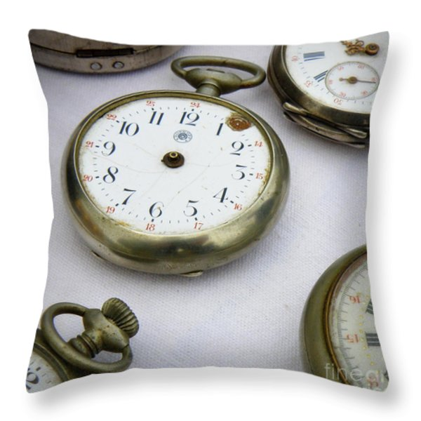 All Out Of Time Throw Pillow by Lainie Wrightson