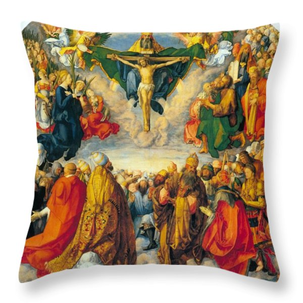 All Saints 1511 Throw Pillow by Albrecht Durer