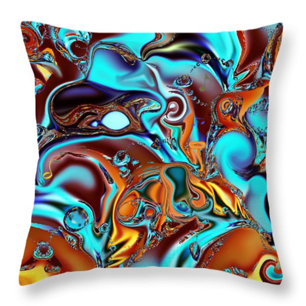 All That Jazz Abstract Throw Pillow by Faye Giblin