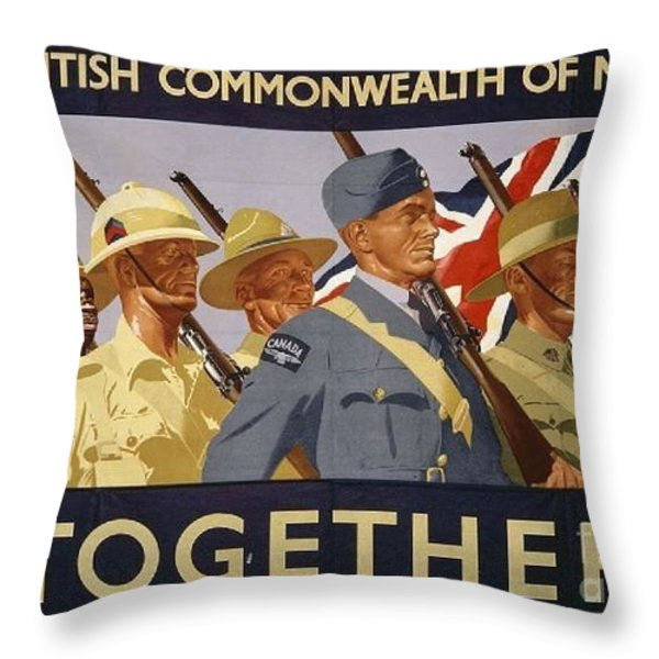 All The Commonwealth Countries Unite. Throw Pillow by Paul Fearn