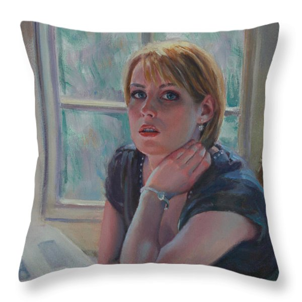 All Twittered Out Throw Pillow by Sarah Parks
