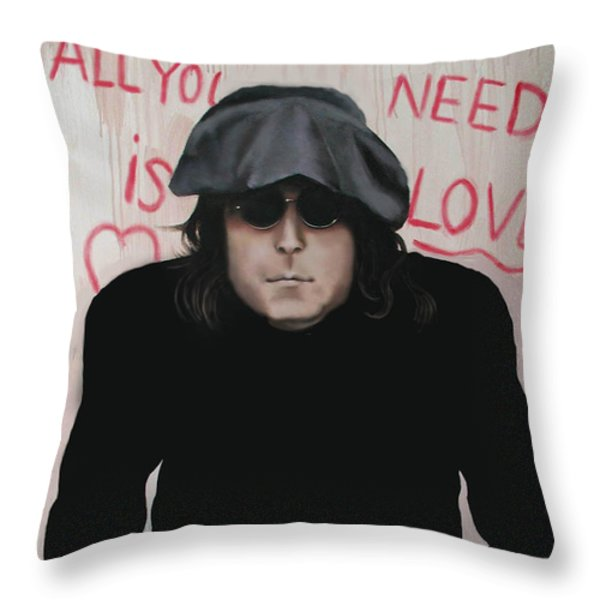 All You Need Is Love Throw Pillow by Anthony Falbo