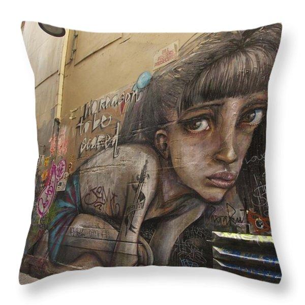 Alley Graffiti #2 Throw Pillow by Stuart Litoff