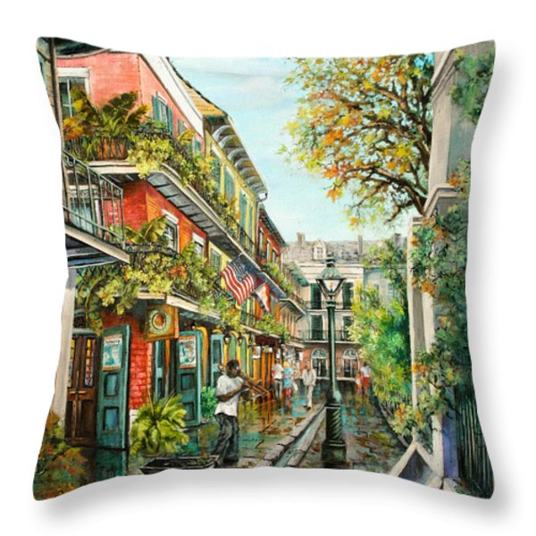 Alley Jazz Throw Pillow by Dianne Parks