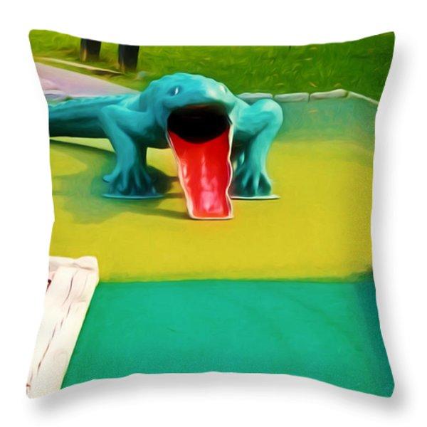 Alligator Throw Pillow by Lanjee Chee