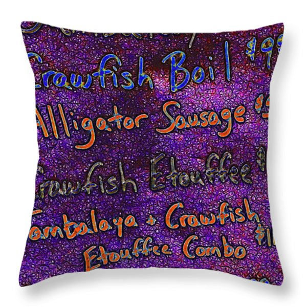 Alligator Sausage For Five Dollars 20130610 Throw Pillow by Wingsdomain Art and Photography