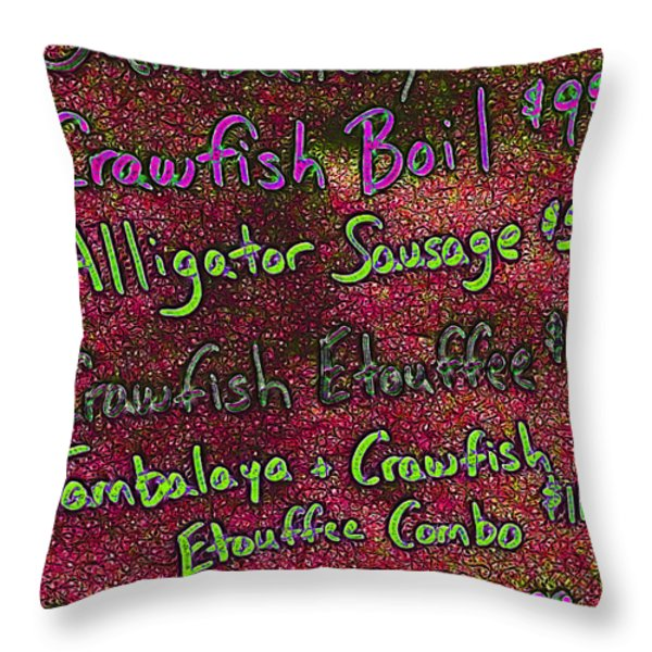 Alligator Sausage For Two Dollars 20130610p68 Throw Pillow by Wingsdomain Art and Photography