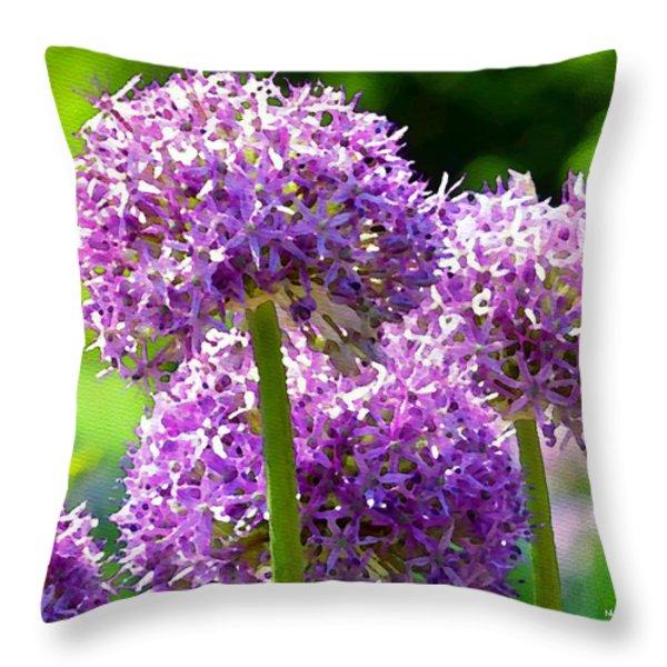 Allium series - Bright Light Throw Pillow by Moon Stumpp