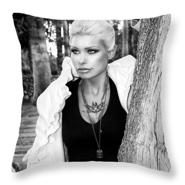 ALLURE BW Palm Springs Throw Pillow by William Dey