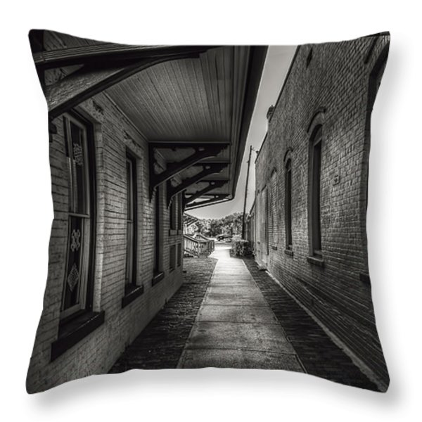Alley To The Trains Throw Pillow by Marvin Spates