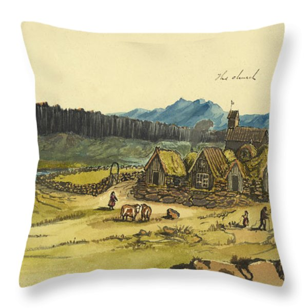 Almanna Gorge Circa 1862 Throw Pillow by Aged Pixel