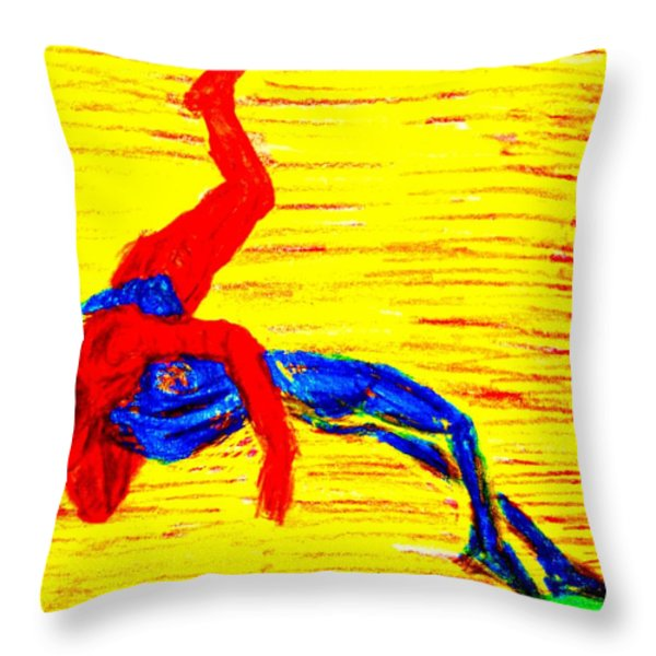 Almost Flying Throw Pillow by Hilde Widerberg