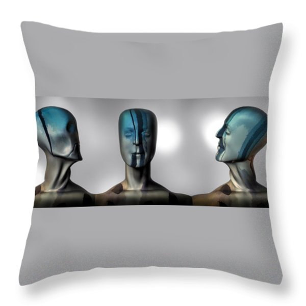 Almost Man In The Middle Throw Pillow by Bob Orsillo