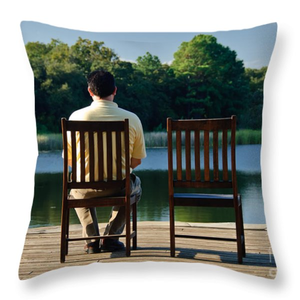 Alone Throw Pillow by Charles Dobbs