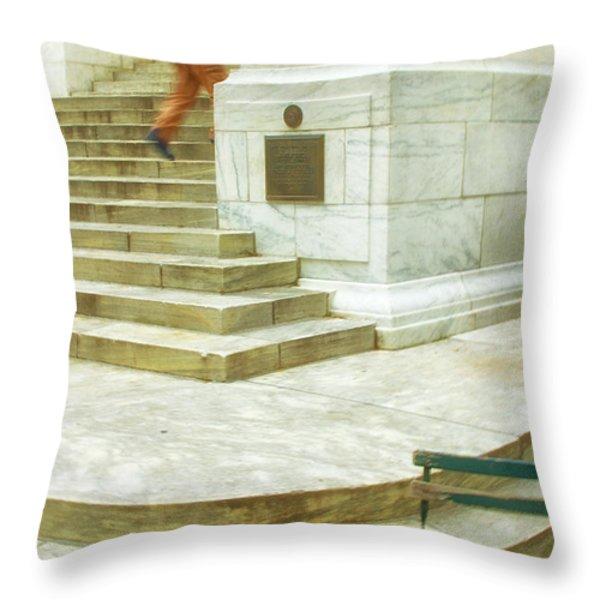 Alone Throw Pillow by Karol Livote