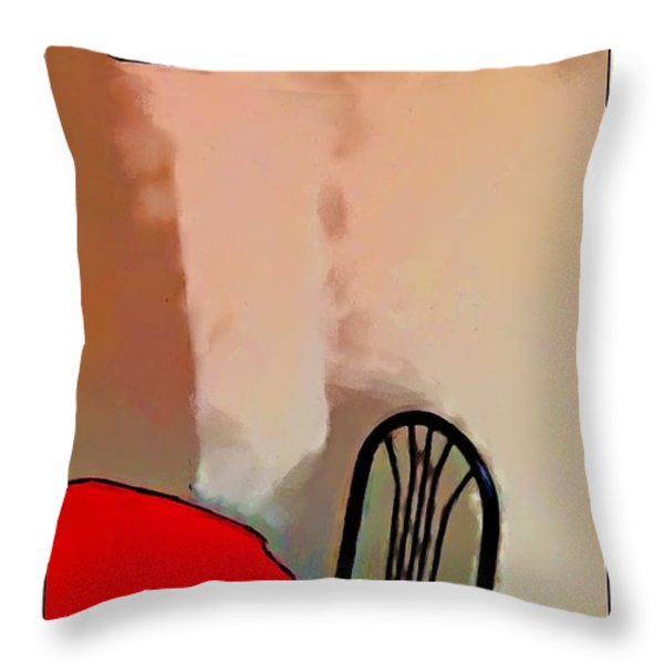 Alone Table Light Throw Pillow by Robert Smith
