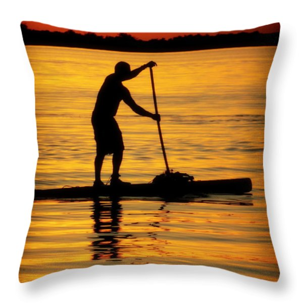 ALONE WITH THE SUN Throw Pillow by KAREN WILES