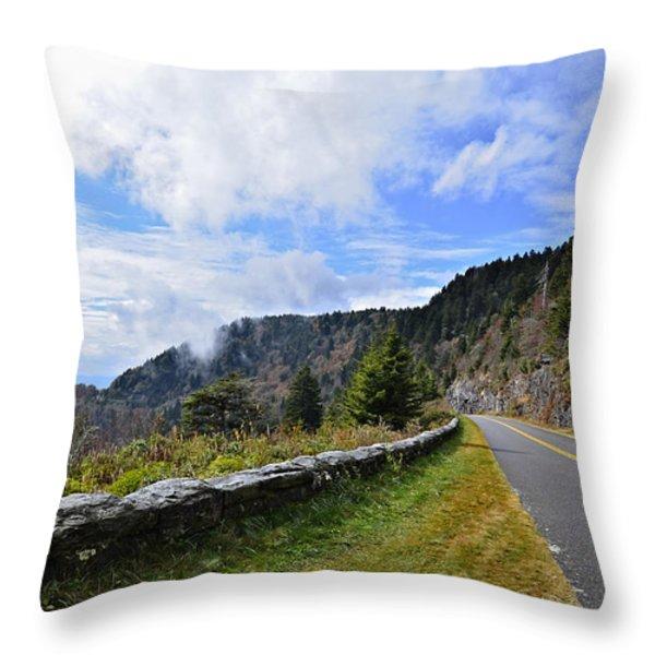Along The Highway Throw Pillow by Susan Leggett