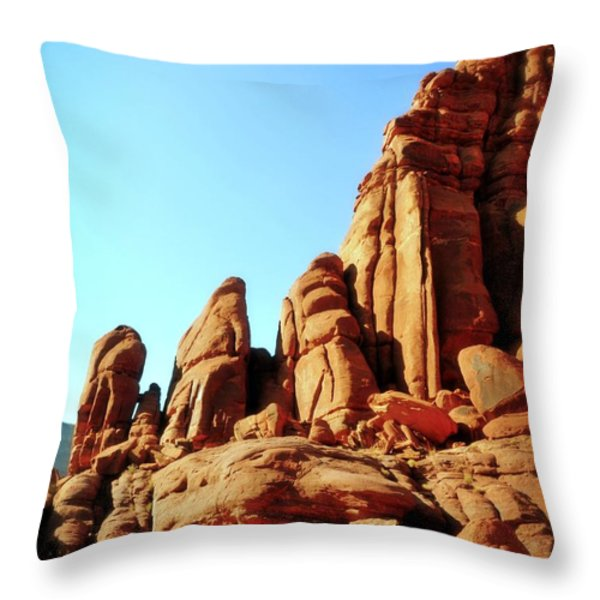 Along The Potash Throw Pillow by Marty Koch