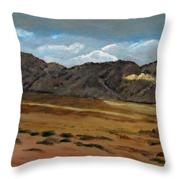 Along The Way To Eilat Throw Pillow by Linda Feinberg