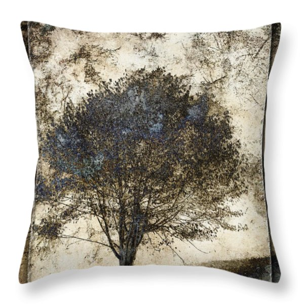 Along The Yachats River Road Throw Pillow by Carol Leigh