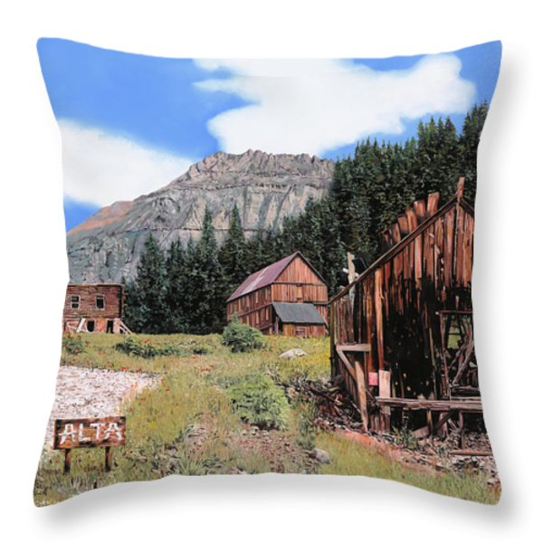 Alta in Colorado Throw Pillow by Guido Borelli