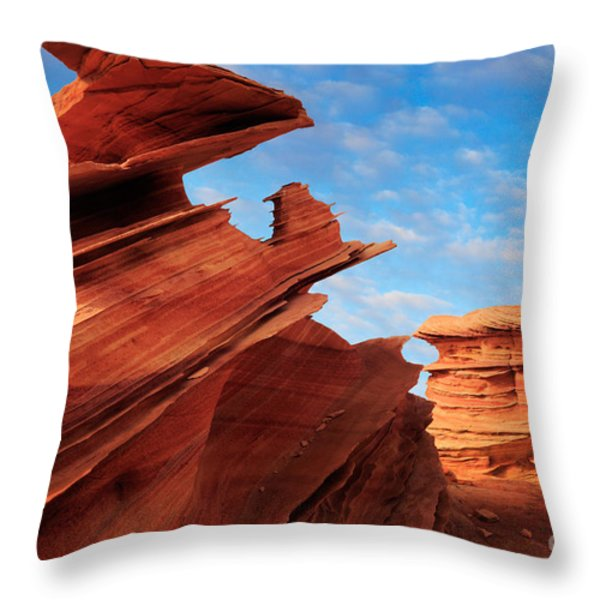 Altar Of Sacrifice Throw Pillow by Inge Johnsson