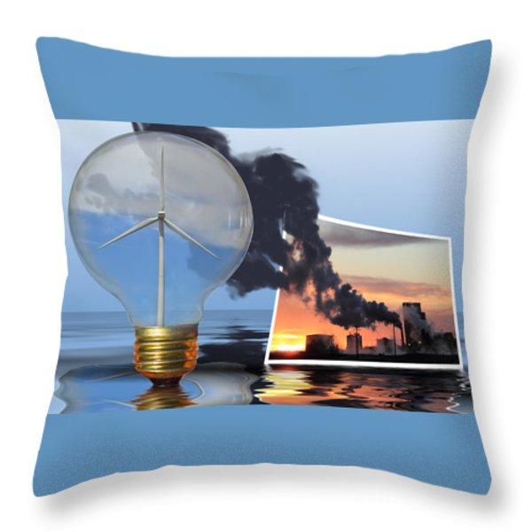 Alternative Energy Throw Pillow by Shane Bechler