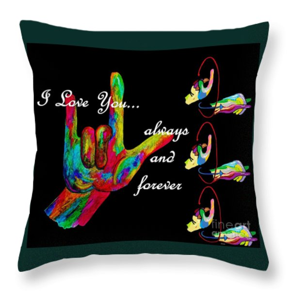 Always And Forever Throw Pillow by Eloise Schneider