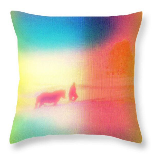 am I dreaming Throw Pillow by Hilde Widerberg