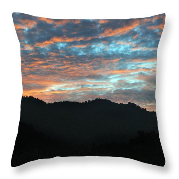 Amazing Evening Sky Throw Pillow by Haleh Mahbod