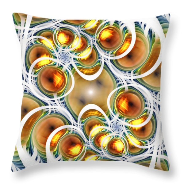Amber Clusters Throw Pillow by Anastasiya Malakhova
