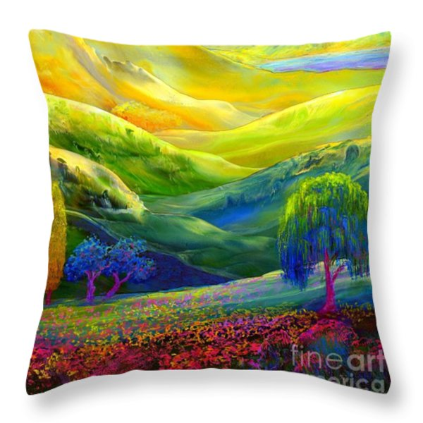 Amber Skies Throw Pillow by Jane Small